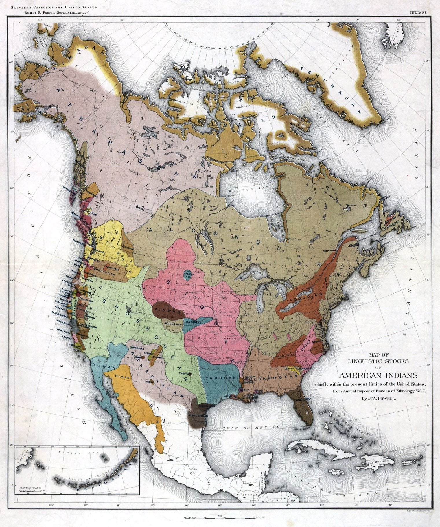 The Indian Tribes Of North America Access Genealogy - Map of us with native american tribes north america