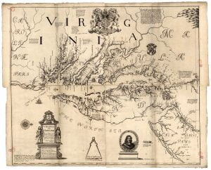 1670 Herrmann's map of Virginia and Maryland