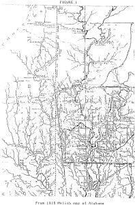 1818 Melish Map of Alabama