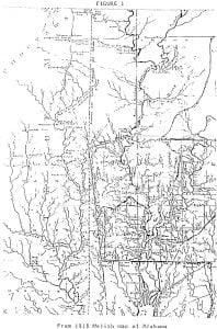 1818 Melish Map of Alabama