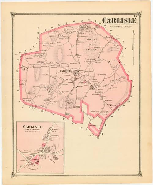 Carlisle MA Vital Records to 1850