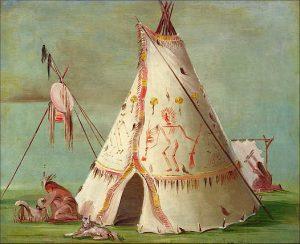 Crow Lodge of Twenty-five Buffalo Skins, 1832–33