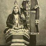 Mann und Frau der Micmac, Neuschottland