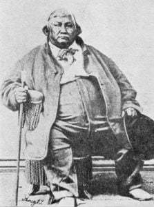 Abram Burnett, Chief of the Pottawatomies