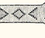 Fig. 49. Blanket Band in Quills. Blackfoot.