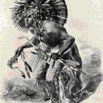 Fig. 35. A Dog Dancer. Hidatsa. (After Maximilian.)