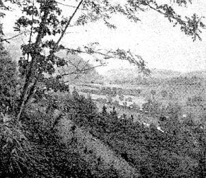 Donaldson Ridge and gap from Spray Ridge, 1891