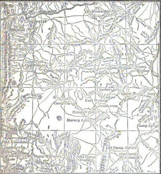 Map Of Eastern Oregon Access Genealogy
