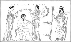 Group from an ancient Greek vase