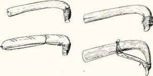 Fig. 21. Hide Scrapers.