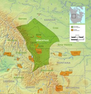 Map of the Blackfoot Reservation