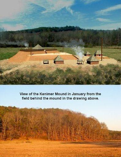 Mysterious Kenimer Mound, Nacoochee Valley, Georgia