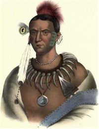 Mahaskah or White Cloud, Ioway Chief