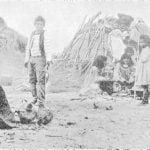 Pima Huts showing Home Life and Utensils