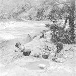 Tule women making bread from acorns