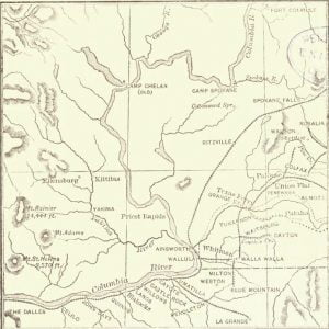 Map of the Railroads of Eastern Washington