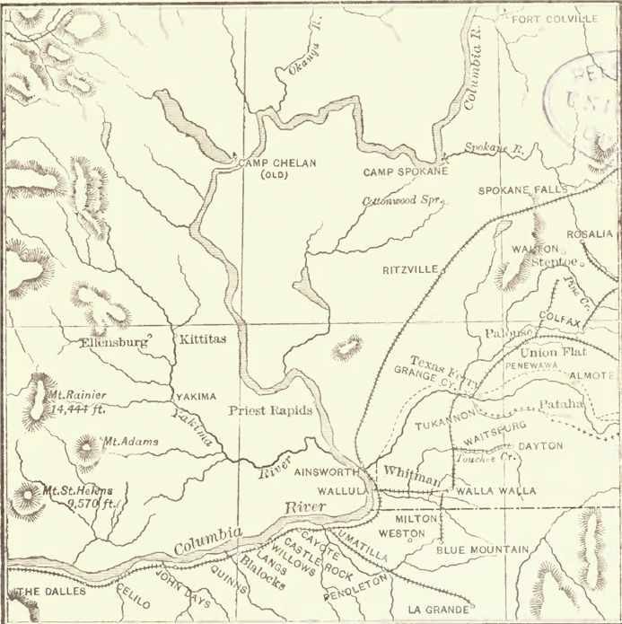 Map Of The Railroads Of Eastern Washington Access Genealogy