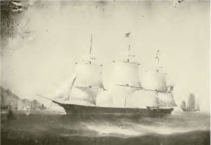 "Ship ""Archer"" Original painted in Hong Kong, China, for Capt. Josiah P. Cressy, now owned by Henry W. Brown, Marblehead"