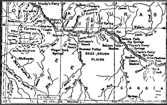 map of southwestern idaho
