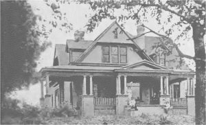 Home of the Warrens, White Earth, Minnesota Built by Mrs. Ida Warren Tobin and her sister and brothers