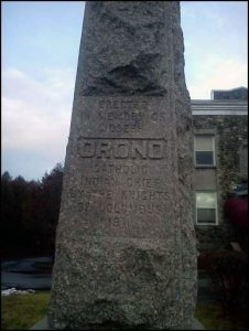 Chief Orono's Monument