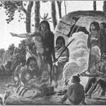 """A family from the tribe of the wild Sautaux Indians on the Red River."" Drawn from nature, 1821."