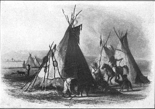 Houses of the Assiniboin Tribe