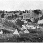 Arapahoe Village, Whitewood Canyon, Wyoming, about 1870