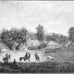 Kansa village, 1841 - George Lehman