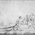 Oto dugout canoe, from Kurz's Sketchbook, May 15, 1851