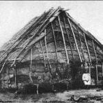 Sauk and Fox habitation covered with Elm bark