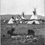 Scene in a Sioux Village about 1870