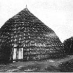 Grass-covered structures near Anadarko  (Wichita Habitations)
