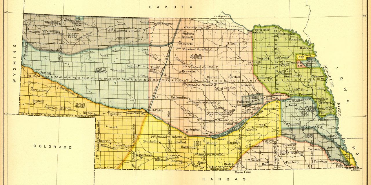 Nebraska Maps of Indian Land Cessions