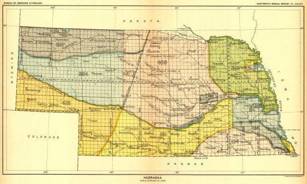 Nebraska Maps of Indian Land Cessions