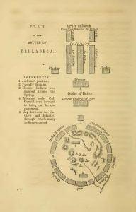 Plan of the Battle of Talladega