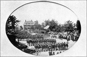 Presentation of colors, September 10th, 1862