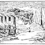 Encampment of relief parties