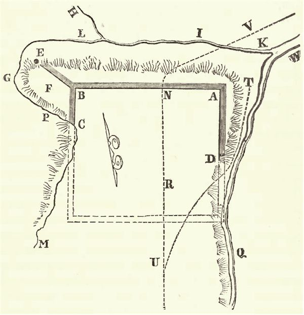 Ancient Entrenchments On Fort Hill Near Le Roy Genesee County