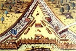 Artist Depiction of Fort Carolina
