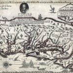 Farrer 1650 map of the colonies of Virginia and Maryland
