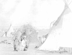 Assinaboine Sioux and Gross Ventre Home Life