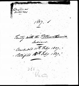 Treaty of 11 Feb 1837 - Page 1