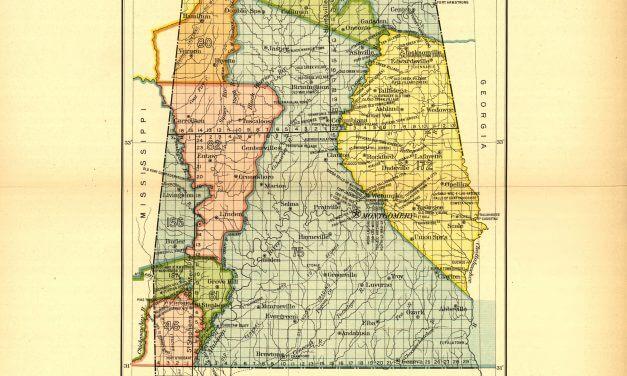 Alabama Land Cessions Map