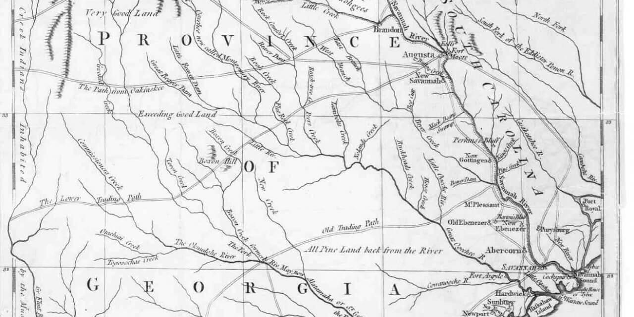 1779 Map of Georgia