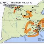 Map of King Philips War