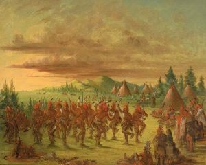 Choctaw Eagle Dance, George Catlin, 1845-8