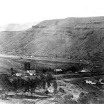 Bird's-eye view of Nez Percé Agency, Idaho. 1879.