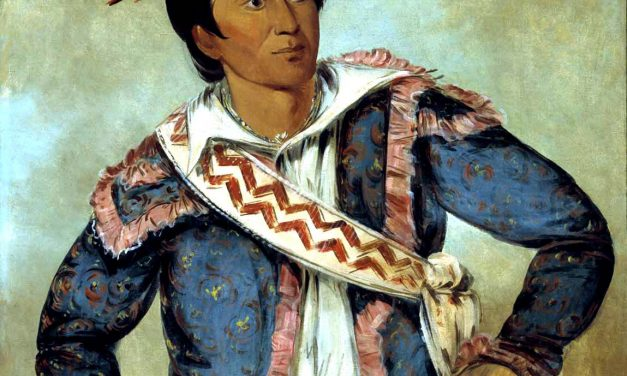 The Meeting in 1811 of Tecumseh and Apushamatahah