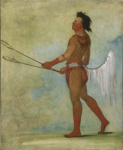 Tul-lock-chísh-ko, Drinks the Juice of the Stone, in Choctaw Ball-player's Dress, George Catlin, 1834